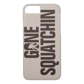 Gone Squatchin tan and brown iPhone 7 Case