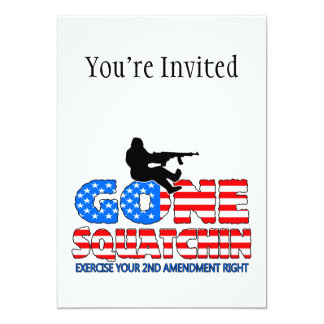 Gone Squatchin USA 13 Cm X 18 Cm Invitation Card