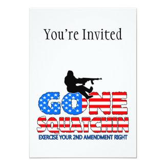 Gone Squatchin USA 5x7 Paper Invitation Card