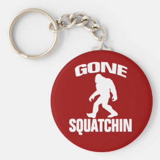 Gone Squatchin - White and Red Key Ring