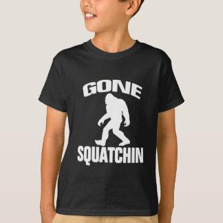 Gone Squatchin White Silhouette T-Shirt