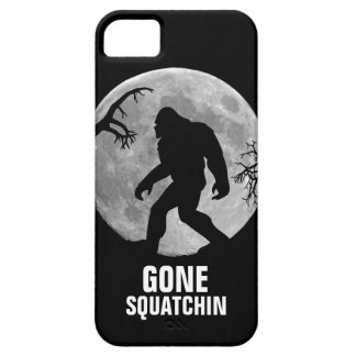 Gone Squatchin with moon and silhouette Barely There iPhone 5 Case