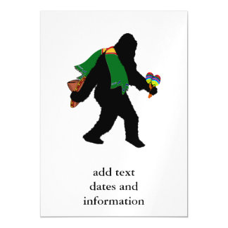Gone  Squatchin' With Serape Magnetic Invitations
