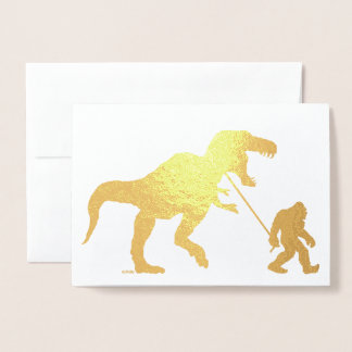 Gone Squatchin with T-rex Foil Card