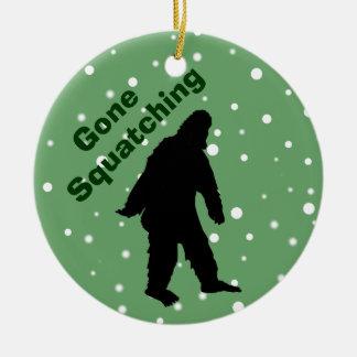 Gone Squatching Green Bigfoot Xmas Tree Ornament