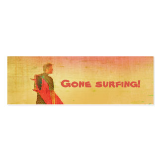 Gone surfing! Business / Contact Card Pack Of Skinny Business Cards