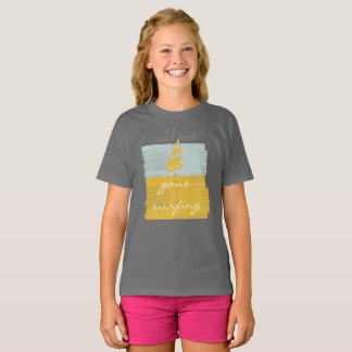 Gone Surfing  in Style Personalized Kids T-shirt