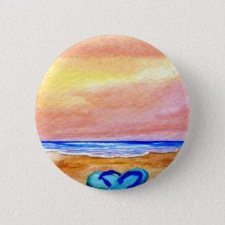 Gone Swimming Beach Baby - CricketDiane Ocean Art 6 Cm Round Badge