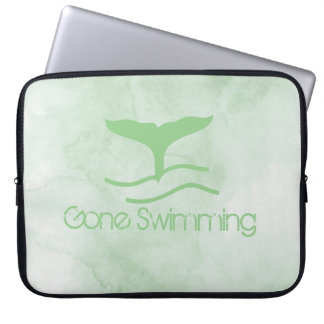 Gone Swimming In Sea Green Waters Laptop Computer Sleeve