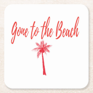 gone to the beach coaster