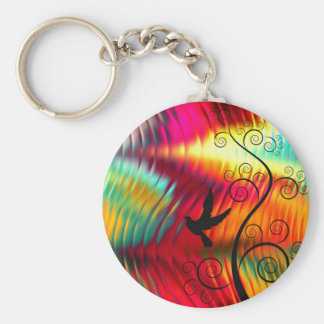 Gone with the wind basic round button key ring