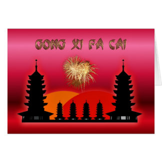 Gong Xi Fa Cai Chinese New Year Vietnamese New Yea Greeting Card