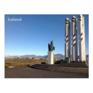 Gónhóll Monument and Hill, Höfn, Iceland Postcard