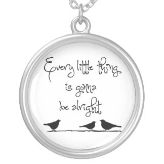 Gonna Be Alright Silver Plated Necklace
