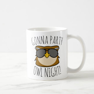 Gonna Party Owl Night Coffee Mug