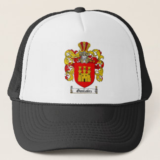 GONZALEZ FAMILY CREST -  GONZALEZ COAT OF ARMS TRUCKER HAT