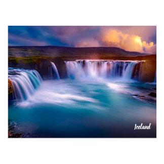 Gooafoss Iceland Waterfall Postcard