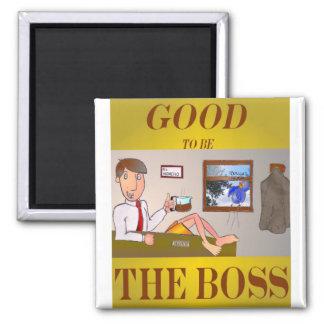 Good 2b the Boss Square Magnet