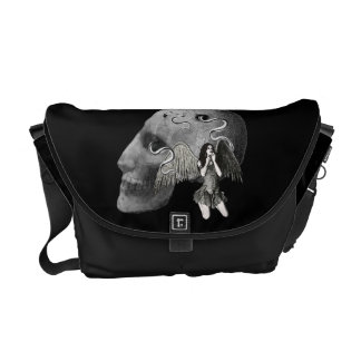 Good and Evil Angel Rickshaw Messenger Bag