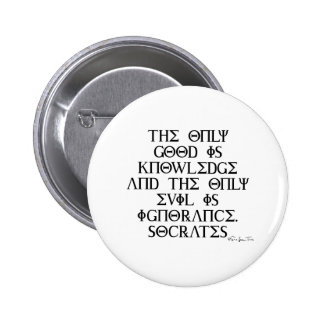 Good and Evil with Socrates 6 Cm Round Badge