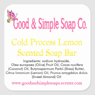 Good and Simple Soap Label Lemon Soap