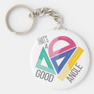 Good Angle Basic Round Button Key Ring
