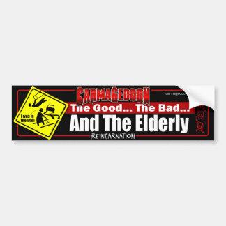 Good Bad Elderly Bumper Sticker
