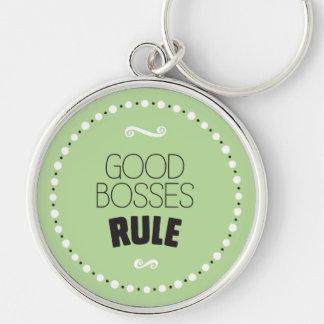 Good Bosses Rule Keychain – Editable Background