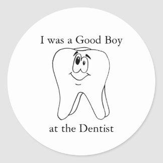Good Boy at the Dentist Stickers