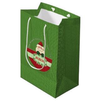 GOOD BOY - Santa Custom Christmas Medium Gift Bag