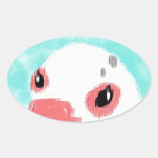 Good bye, bun oval sticker