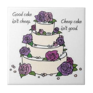 Good cake isn't cheap TILE piece