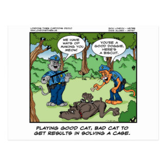 Good Cat Bad Cat U Will Meow Funny Gifts & Tees Postcard