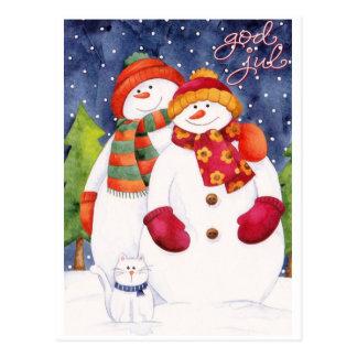 Good Christma/Happy Christmas Postcard
