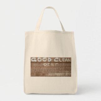 Good Clean Dirt 'Tailgate Talk' Grocery Tote Bag