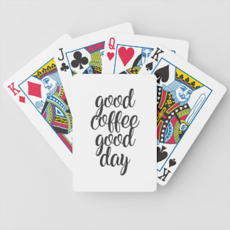 Good Coffee Good Day Bicycle Playing Cards