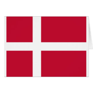 Good color Denmark flag Print Card