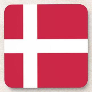 Good color Denmark flag Print Coaster