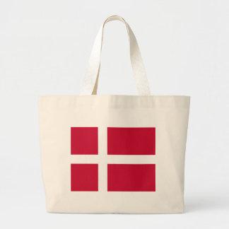 Good color Denmark flag Print Large Tote Bag