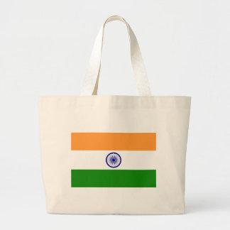 """Good color Indian flag """"Tiranga"""" Large Tote Bag"""