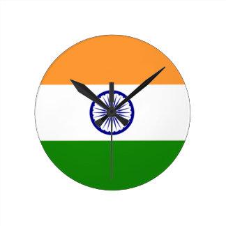 """Good color Indian flag """"Tiranga"""" Round Clock"""