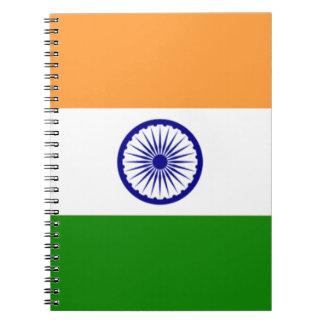 """Good color Indian flag """"Tiranga"""" Spiral Notebook"""