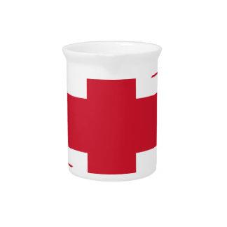 "Good color UK United Kingdom flag ""Union Jack"" Pitcher"