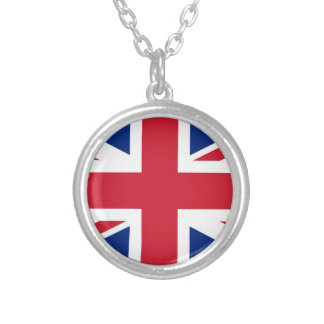 "Good color UK United Kingdom flag ""Union Jack"" Silver Plated Necklace"