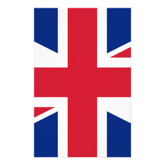 "Good color UK United Kingdom flag ""Union Jack"" Stationery"