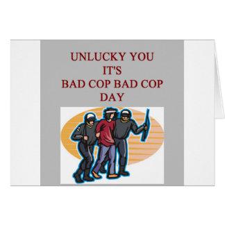 good cop bad cop police joke card