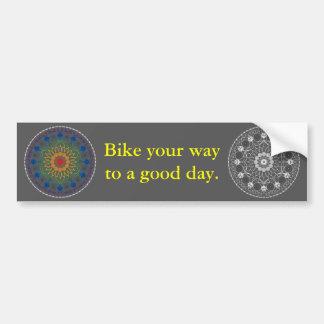 Good Day Bumper Sticker with Mandala 2