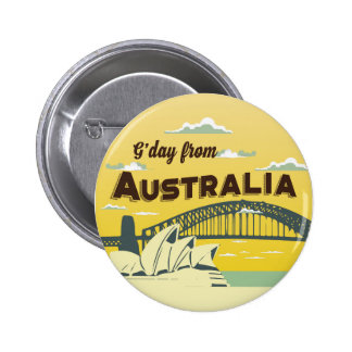 Good day from Australia round button