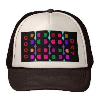 GOOD DAY Trucker Hat - Rainbow Colors on Black