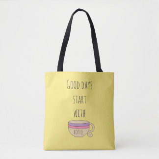Good Days Start With Coffee Tote Bag